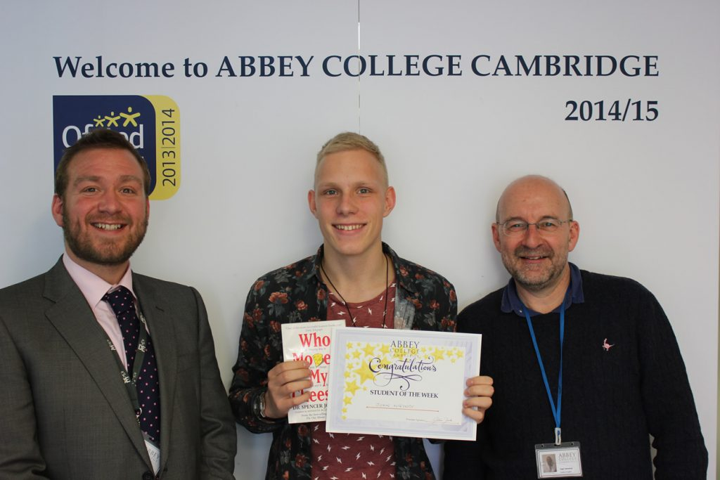 Abbey College Cambridge A Level Student Jon