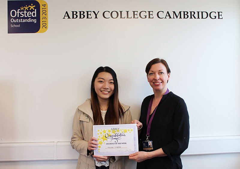 Abbey College Cambridge A Level Student Nicola