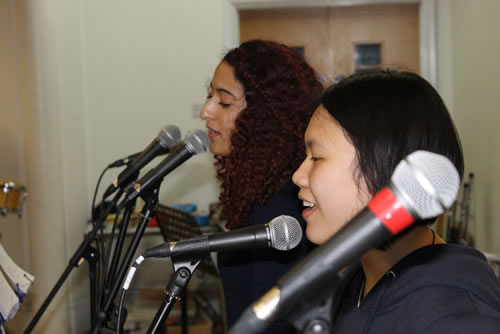 Abbey College Cambridge A level English students singing