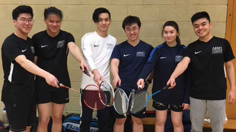 Abbey College Cambridge Badminton Team