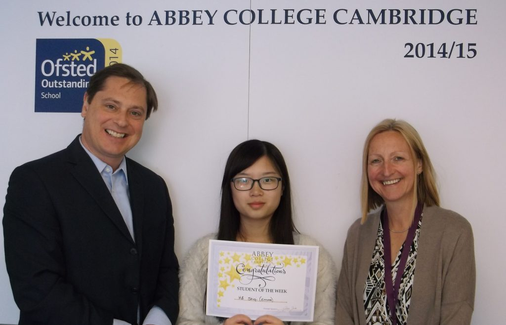 Abbey College Cambridge A level student Emma