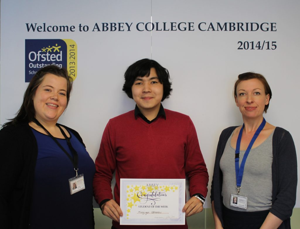 Abbey College Cambridge A level student Migiyan