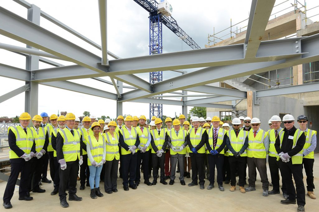 Abbey College Cambridge New Campus Topping Out Ceremony