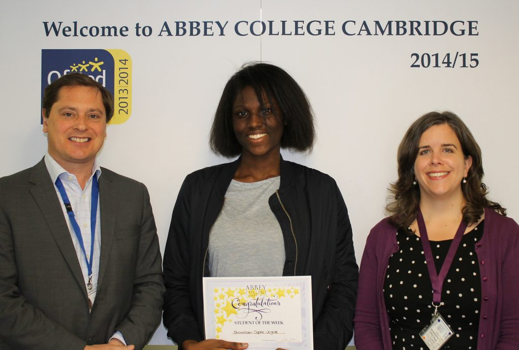 Abbey College Cambridge A Level Student Sophie