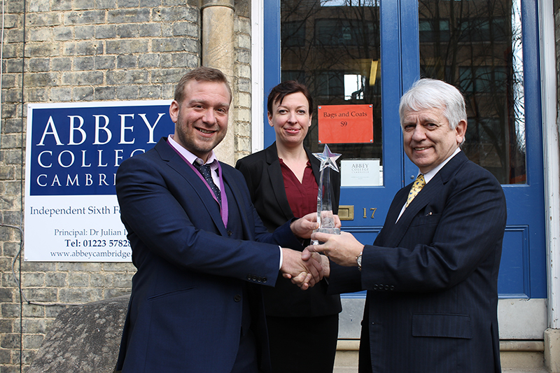 Abbey College Cambridge Celebrates Top 5 Best Schools Award